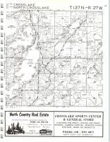 Cross Lake, North Cross Lake T137N-R27W, Crow Wing County 1972